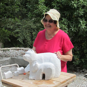 "Gail Geer creating ""Second Summer"" in Pietrasante Italy, July 2012"
